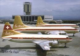 TELLAIR Corvair 400 Bristol Britannia 324 HB-IMQ G-ARKA Aviation Aiplane Planes Flugzeuge BASEL Tell Air - 1946-....: Era Moderna