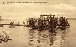 Cpa CONGO BELGE, Passage De L'ARUWIMI Par Une Auto De La Mission Delingette - Congo Belge - Autres