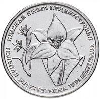 PMR Transnistrija, 2019, Red Book , Plants - Tulip,  1 Rbl Rubel - Russland