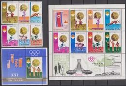 North Korea 02.08.1976 Mi # 1537-42 1537-43 Kleinbogen Bl 30Montreal Summer Olympics Medalwinners (III) MNH OG - Estate 1976: Montreal