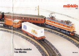 Catalogue MÄRKLIN HO Swenska Modeller 1985/86 Supplement For Sweden - En Suédois - Livres Et Magazines