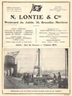 BRUXELLES-MARITIME - N. Lontie & Cie - Dim. A4 - Publicités
