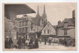 - CPA QUIMPER (29) - Le Marché - Vieilles Maisons De La Place Saint-François (belle Animation) - - Quimper