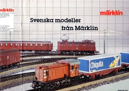 Catalogue MÄRKLIN HO Swenska Modeller 1984/85 Supplement For Sweden - En Suédois - Livres Et Magazines