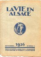 LA VIE EN ALSACE N°9 Septembre 1936 - Journaux - Quotidiens