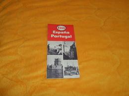 CARTE ANCIENNE ESSO ESPAGNE PORTUGAL....DE 1956.. - Cartes Routières