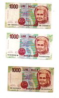 Italie - 6 Billets De 1000 Lires-voir état. - Coins & Banknotes