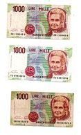Italie - 6 Billets De 1000 Lires-voir état. - Kilowaar - Bankbiljetten
