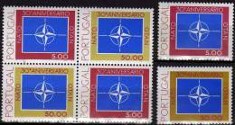 Emblem 30 Jahre NATO 1979 Portugal 1439/0+4-Block ** 10€ Beitritt Zum Bündnis Windrose Bloc Stars Se-tenant Bf OTAN - Errors, Freaks & Oddities (EFO)