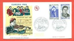 MUSICA- ANNO DELLA MUSICA - BELGIO 1985- EUROPA CEPT -1985- MARCOFILIA - Musica