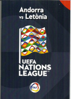 UEFA NATIONS LEAGUE 2018/19. ANDORRA-LATVIA, BOOKLET 16 PAGES LUXE, Disponible Seuls Aux Tickets VIP - Books