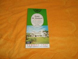 LIVRET ROUTE DU BONHEUR PRESTIGE MONDIAL EUROPE 1967 / RELAIS DE CAMPAGNE FRANCE 1967 - Tourism Brochures