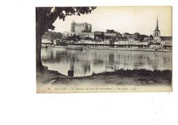 Cpa - 49 - Saumur - Château - Vue Prise Du Marronnier - Arbre - Travaux échafaudage - LL 18 - Saumur