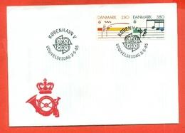 MUSICA- ANNO EUROPEO DELLA MUSICA - DANIMARCA- EUROPA CEPT -1985- MARCOFILIA - Musica