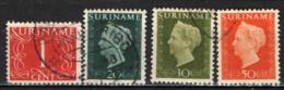 SURINAME - 1948 - CIFRA ED EFFIGIE DELLA REGINA GUGLIELMINA - USATI - Suriname