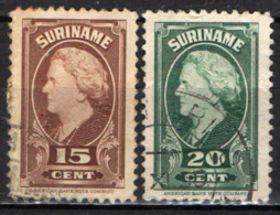 SURINAME - 1945 - EFFIGIE DELLA REGINA GUGLIELMINA - USATI - Suriname