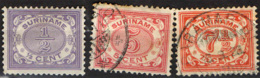 SURINAME - 1913 - CIFRE - NUMERALS - USATI - Suriname