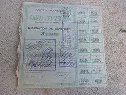 CANAL DU VERDON (1897) - Actions & Titres