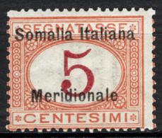 Somalia 1906 Segnatasse Sass.S1 **/MNH VF/F - Somalia