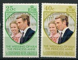 St Christophe **  N° 287/288 - Mariage De La Princesse Anne D'Angleterre  - - America Centrale