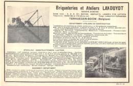 1928 - Terhaegen-Boom - Briqueteries Et Ateliers Landuydt - Dim. 1/2 A4 - Publicités