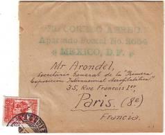 RARE Lettre Du MEXIQUE Adressee A La PREMIERE EXPOSITION DE POSTE AERIENNE Paris 1930 - Marcophilie (Lettres)