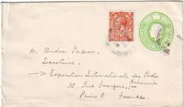 RARE Lettre De GB Adressee A La PREMIERE EXPOSITION DE POSTE AERIENNE Paris 1930 - Marcophilie (Lettres)