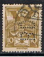 TXECOSLOVAQUIE  43 //  YVERT 158 // PERFORE / PERFIN // 1920 - Oblitérés