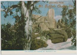 Australia VIC VICTORIA The Monolith MOUNT BUFFALO Rose No.400 Postcard 1977 MT BUFFALO Postmark 18c Stamp - Australia