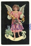 Petit Ange, Corne D'abondance, Cloche. Verso : Publicité Pour Le Torréfacteur Snets-Van De Vijver - Anges