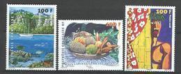 """Polynésie YT 831 à 833 """" Tableaux """" 2008 Neuf** - Polynésie Française"""