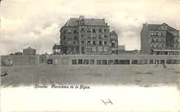 Knocke - Panorama De La DIgue (le Grand Hôtel, Dos Nu...) - Knokke