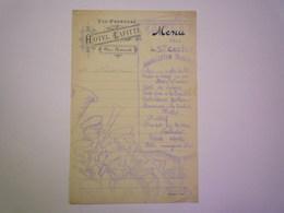 2019 - 1643  VIC-FEZENSAC  (Gers)  :  MENU  De L'Association Musicale Pour La Ste Cécile à L'Hôtel LAFITTE  1902    XXX - Menus