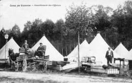 02 - Camp De Sissone - Ameublement Des Officiers (animée, Pottelain-Paruitte 1910) - Sissonne
