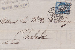290  -  CERES 60 -  LYON  A  CHALABRE - Postmark Collection (Covers)