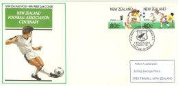 Nouvelle-Zélande.Centenai Re Du N-Z Football Association . Beau FDC Adressé à Timaru (N-Z) Yv. 1102/03 - FDC