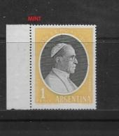 ARGENTINA  1959 Pope Pius XII Commemoration   MINT - Unused Stamps