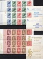 Eisschnellauf/Theater 1966 Schweden MH 10+13 I+II ** 10€ Schwedisch/english Art Se-tenant Sport Booklets Of Sverige - Sweden