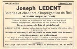 1927 - VILVORDE - Imprégnation De Bois - Ets Joseph LEDENT - Dim. 1/2 A4 - Advertising