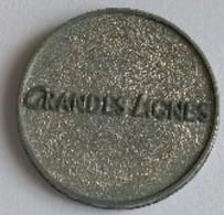 Jeton De Caddie - GRANDES LIGNES - En Métal - - Einkaufswagen-Chips (EKW)
