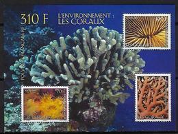 """Polynésie Bloc YT 36 BF """" Les Coraux """" 2010 Neuf** - Blokken & Velletjes"""