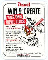 Belgium. Duvel. Win & Create Your Own Duvel Glass. Elke Week 100 Winnaars. 100 Gagnants Chaque Semaine. Www.duvelstudio. - Sous-bocks