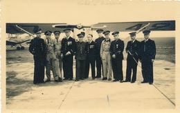 R. NOLET CP Aviateurs Militaires Devant Un Avion Avec TEXTE Et SIGNATURE AUTOGRAPHE 1940 WW2 - Airmen, Fliers