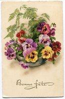 CPA - Carte Postale - Fleurs - Bonne Fête - Pensée - 1936 (B8951) - Fleurs