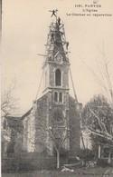PARVES - L'église ,Le Clocher En Réparation ,( Cliché P.Marcellin , N° 1181 ) RARE : Ardoisier , Couvreur, - France