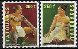"""Polynésie YT 902 & 903 """" Tatouages """" 2010 Neuf** - Polynésie Française"""