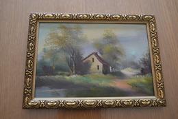 Petit Cadre Peinture à L'huile Signée Et Encadrée - Oils