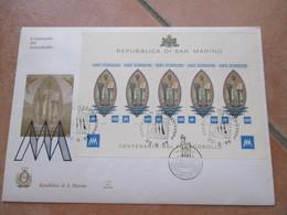 1977 Foglietto Centenario 5 Valori L.1000 Su FDC Alto Valore Nominale E Di Catalogo - Cartas