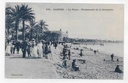 CANNES - N° 479 - LA PLAGE AVEC PERSONNAGES - CPA VOYAGEE - Cannes