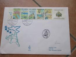 11.6.1990 Anno Europeo TURISMO Carnet Su FDC Venetia Viaggiata - Cartas